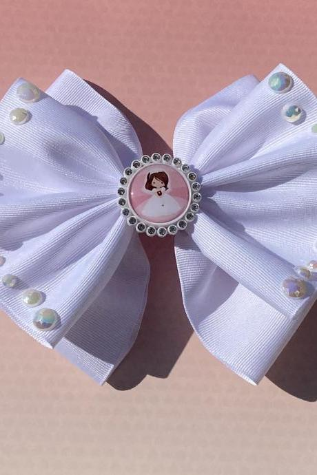 First Communion White Bow