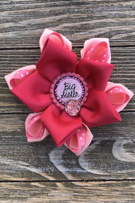 Ribbon hair bows for girls/ first, middle, and youngest