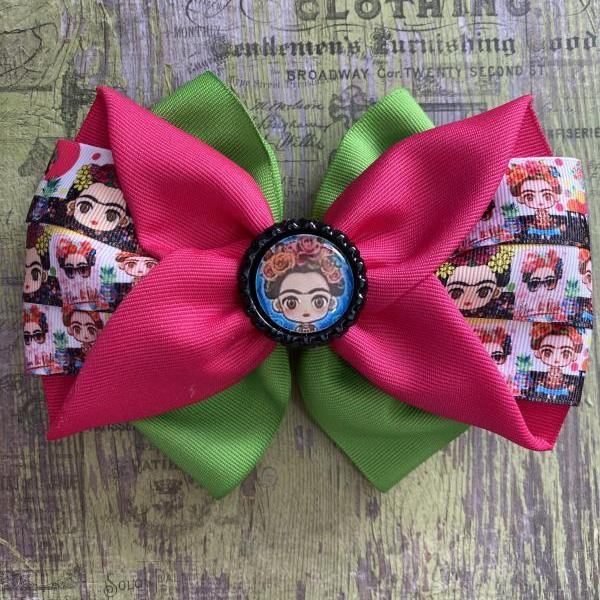 Mexican Candy Bow, Princess Bow, Frida Bow